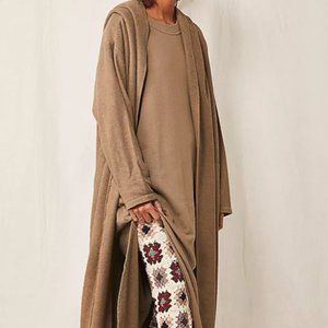 Free People Coziest Set Olive Green NWT